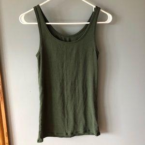 Merona army green tank top